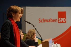 Ulrike Bahr sagte, die SPD in Schwaben sei mit erfahrenen und jungen Talenten auf den Listen auf einem ermutigenden Weg.