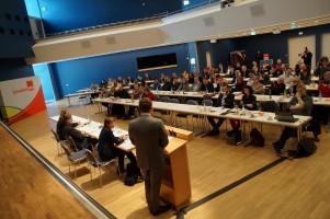 Knapp 80 Delegierte waren zur Wahlkreiskonferenz in die Stadthalle Schwabmünchen gekommen.
