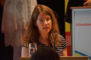 Silke Klos-Pöllinger, Vorsitzende des DGB-Kreisverbands Augsburg.