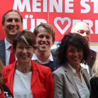 Christoph Schmid (hintenlinks), Ulrike Bahr (vorne links) und Annette Luckner (vorne rechts)