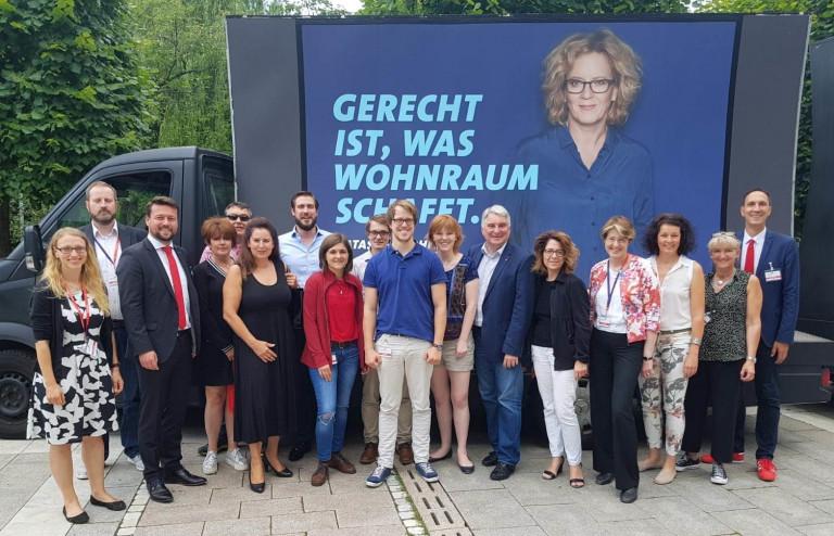 Die schwäbische Delegation auf dem Parteitag in Weiden.